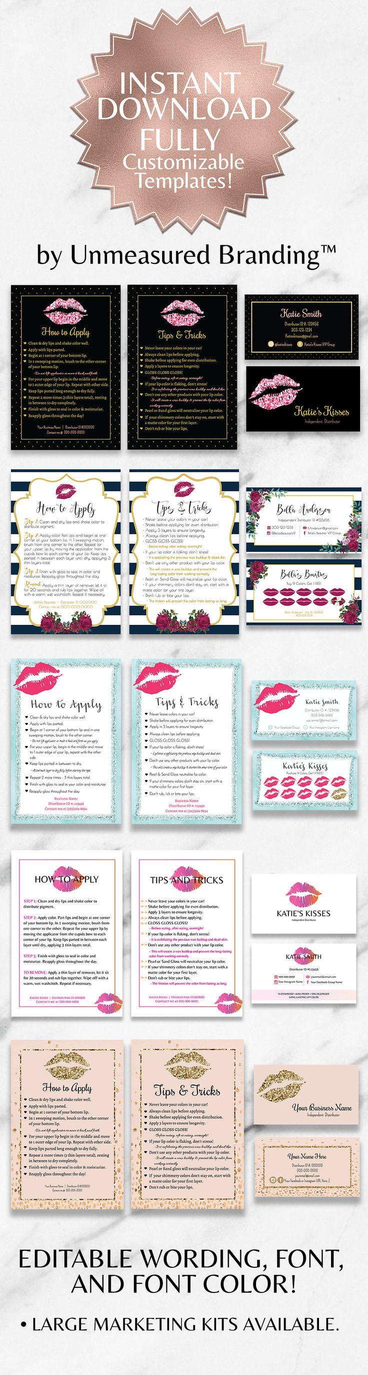 Die besten 25 Lipsense business cards Ideen auf Pinterest