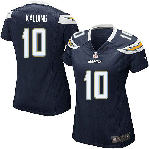 Women Nike San Diego Chargers #10 Nate Kaeding Limited Navy Blue Team Color NFL Jersey Sale
