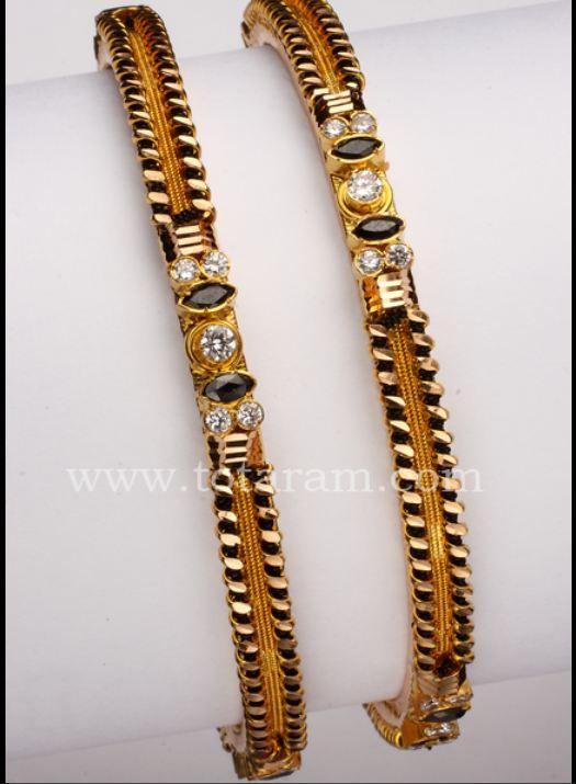 Black beads bangles