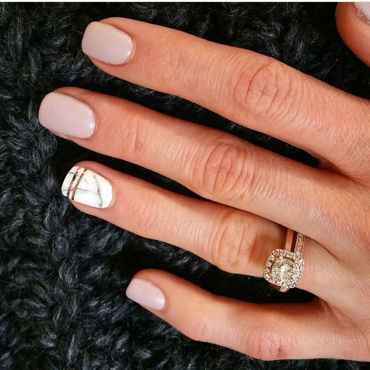 Blush pink & marble nails
