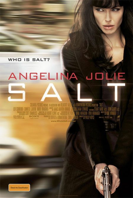 Salt is an upcoming American action thriller film directed by Phillip Noyce, written by Kurt Wimmer and Brian Helgeland, and starring Angelina Jolie, Liev Schreiber, and Chiwetel Ejiofor. Description from musikamaniac.blogspot.com. I searched for this on bing.com/images