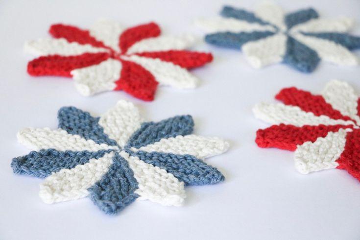Pinwheel Coasters Knitting Pattern | Easy knitting ...