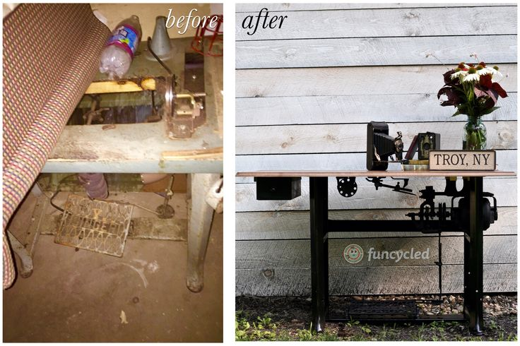 Antique Sewing Table Makeover by FunCycled http://funcycled.com/projects/antique-sewing-table-makeover-tuesdays-treasures/ #funcycled #makeover #design #interiors #paintedfurniture