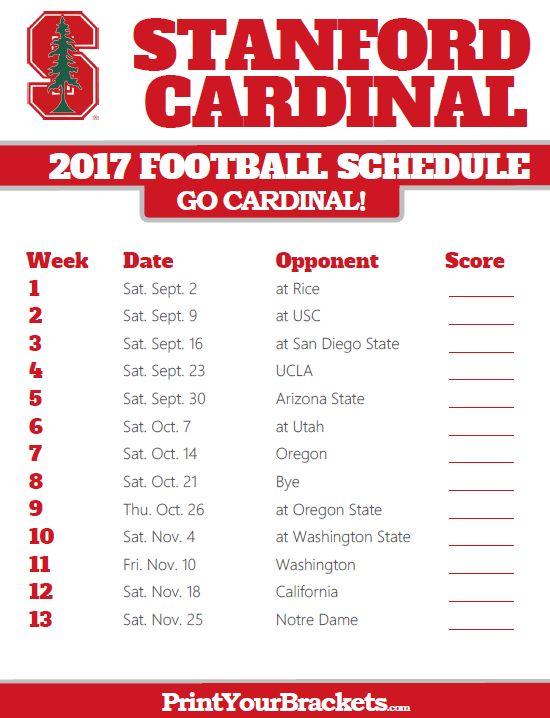 Stanford Cardinal Football Schedule