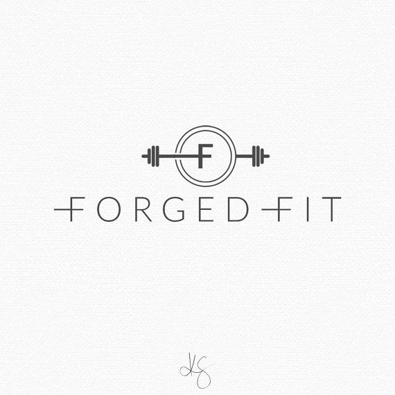 For purchase | Fitness logo design by: Kelcie Saunders | http://etsy.me/2aJcxC2
