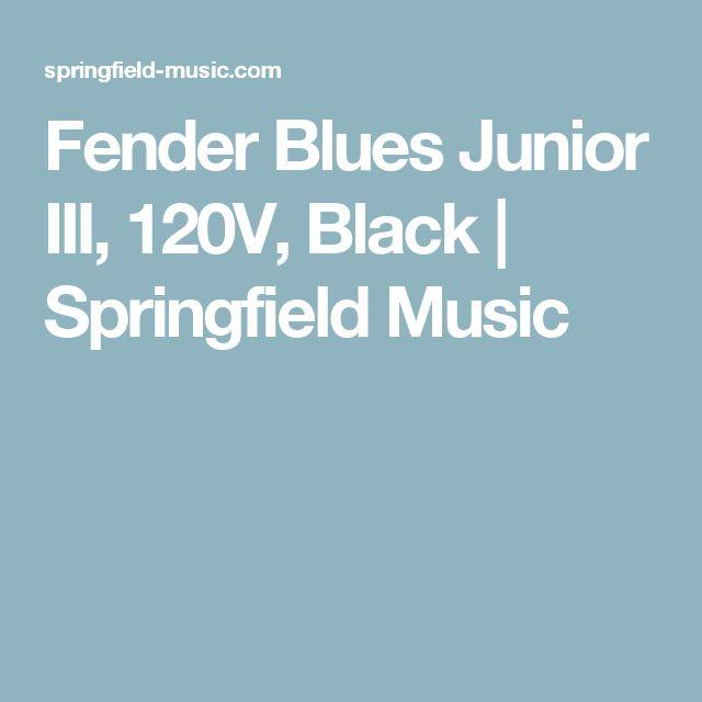 Fender Blues Junior III, 120V, Black | Springfield Music