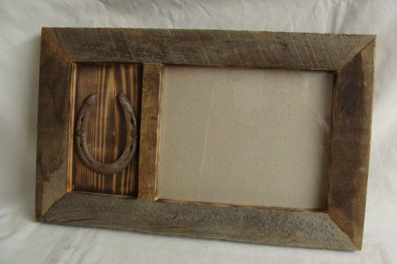Hey, I found this really awesome Etsy listing at https://www.etsy.com/listing/112122954/8-x-10-barn-wood-frame-with-horseshoe