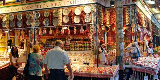 Great Market Hall #Budapest -- the place where you can buy everything related to #Hungary (clothes, food, spices, beverages, gifts, etc.) Click on the image for more details!