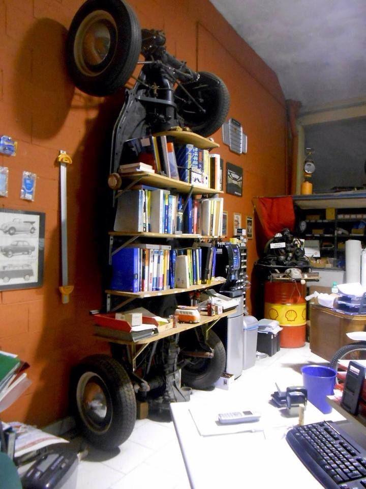 VW  Beetle Chassis Bookshelf