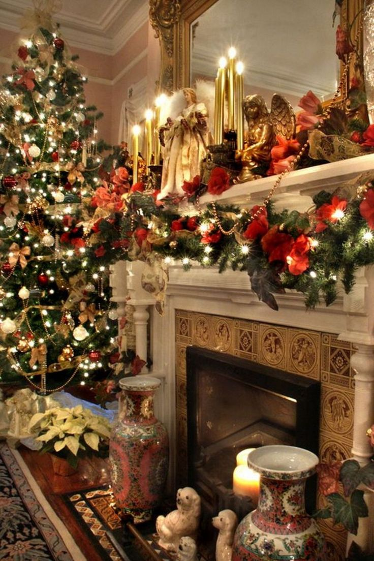 1044 Best Christmas Mantels Images On Pinterest