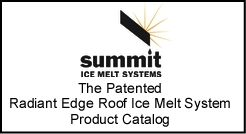 Roof ice melt and prevention system catalog