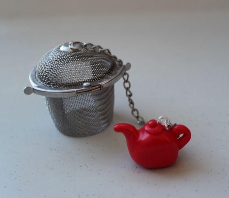 Filtre à thé,théière rouge, petite marmite, fermeture complète : Cuisine et service de table par ludifimo
