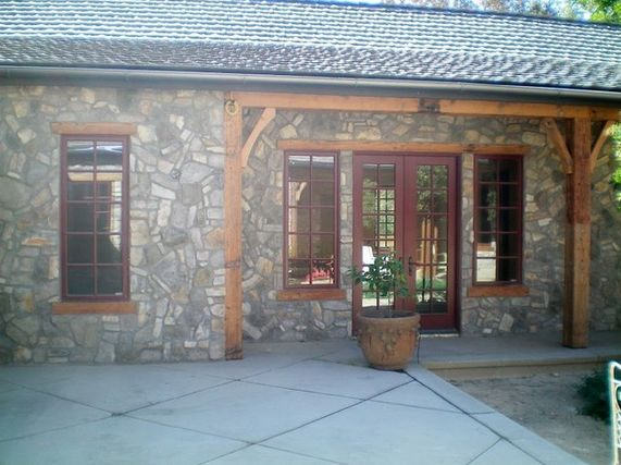 Rustic Patio In San Francisco A Recent Project By Pella Windows And Doors Of Northern