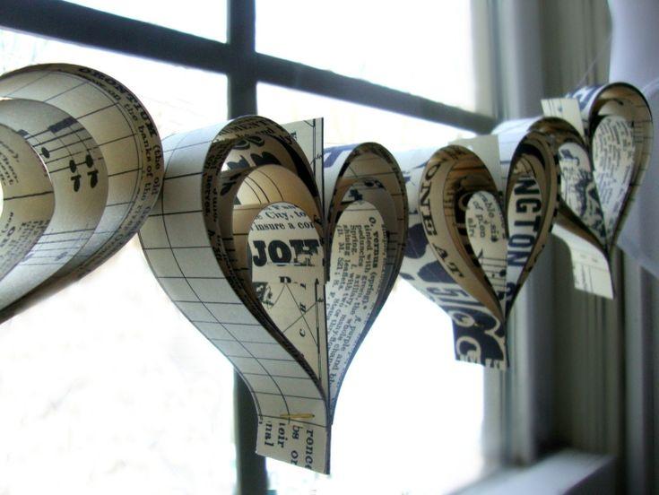 Décoration St Valentin- 12 idées de guirlandes de cœurs faciles et jolies