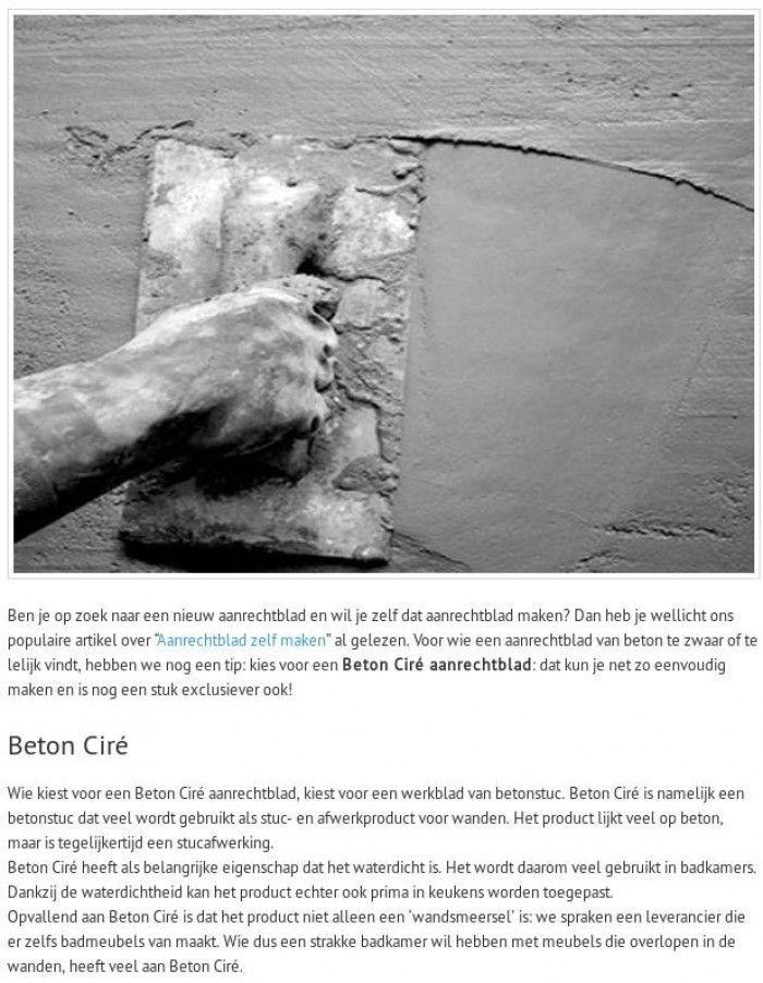 Betonlook waterdicht voor wanden en meubels en aanrecht