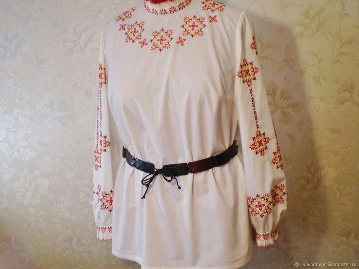 Вышитая блуза в этно-стиле – купить в интернет-магазине на Ярмарке Мастеров с доставкой