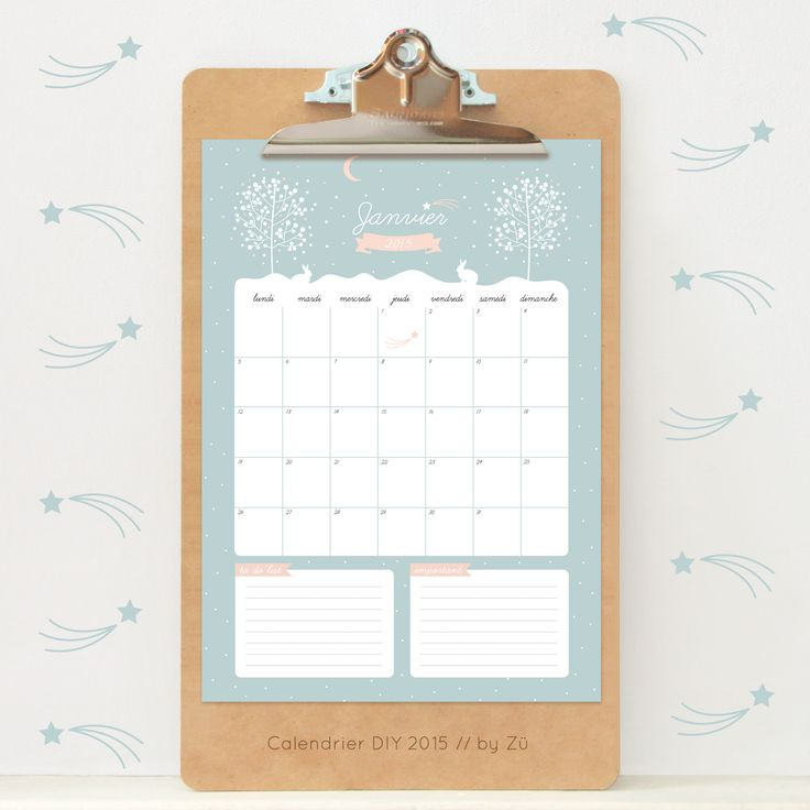 Calendar DIY 2015 - Janvier by Zü