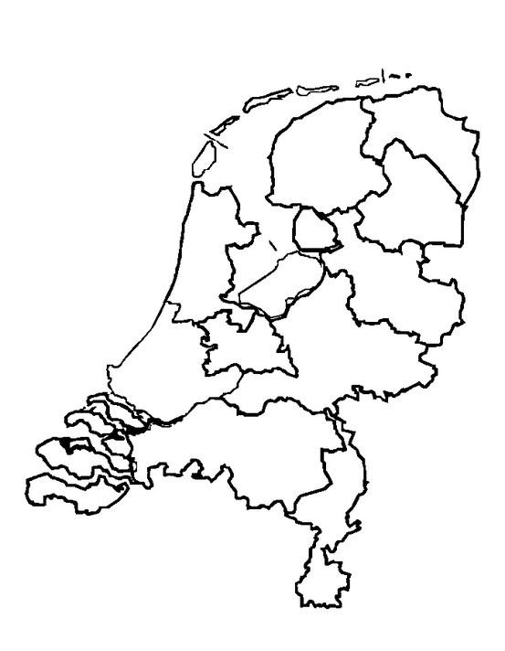 Kleurplaat Dieren Kalimero Kleurplaat Nederland Provincies Clip Art Vector Van Kaart