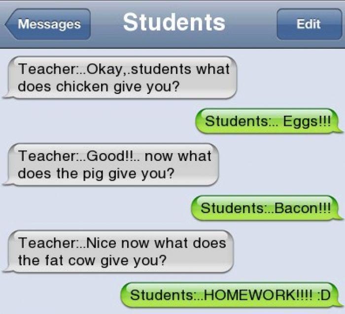 Funny text - Teacher - http://www.jokideo.com/                                                                                                                                                                                 More