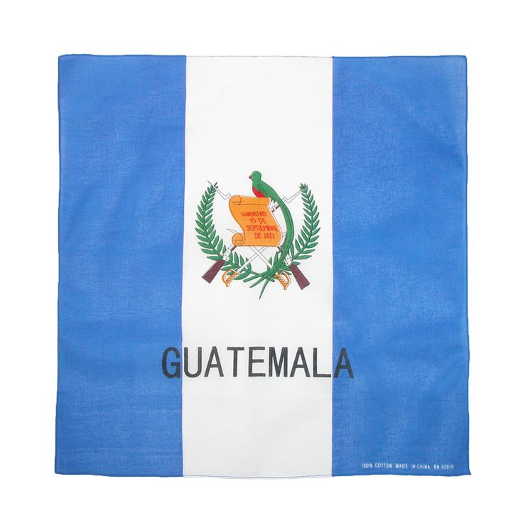 CTM Cotton Guatemala Flag Bandana