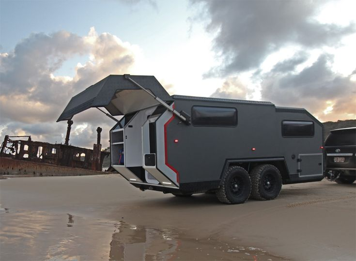 EXP 6 - An Off-Road Camper by Bruder for Luxurious Getaways. Off-road camping (or arguably, glamping) has been taken to new heights in recent years with companies introducing high-end trailers, capable of traversing