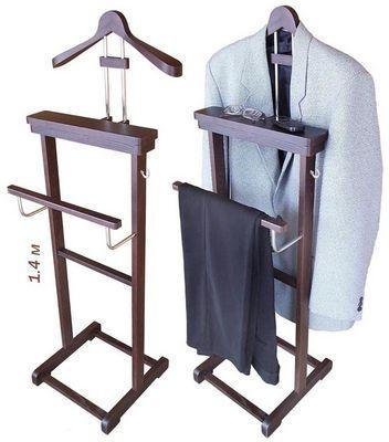 сделать вешалка напольная для одежды