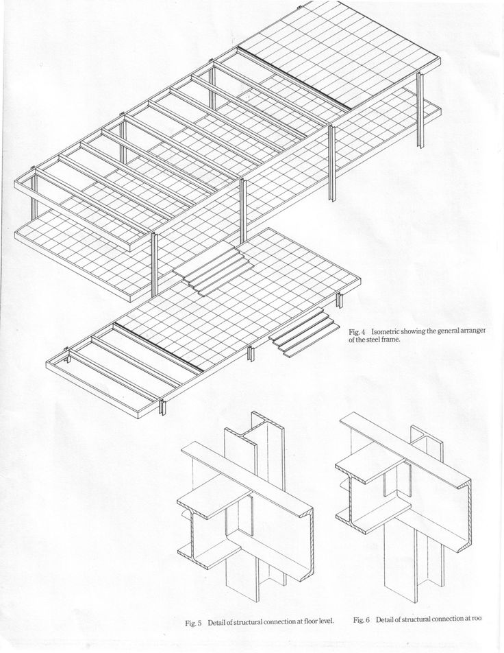 mies van der rohe farnsworth house structure - Google Search