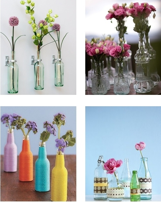 Garrafas + flores = decoração (fofa) e sustentável!