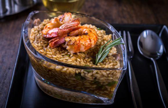 Arroz cremosos de setas, trigueros y langostinos cocinado en 5 minutos | La Cocina de Alimerka