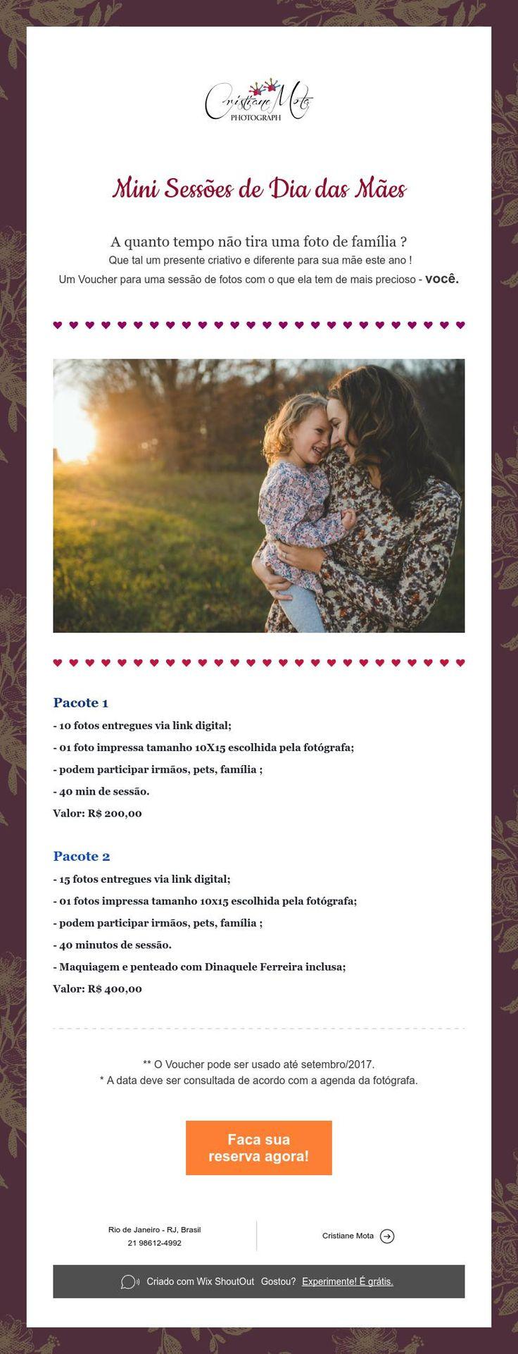 Mini Sessões de Dia das Mães