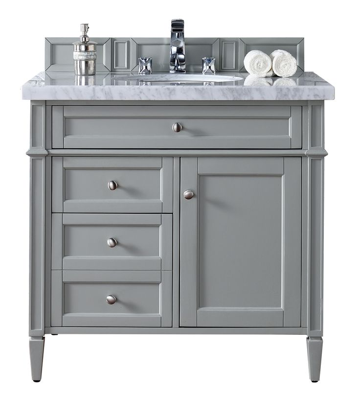 36 brittany single bathroom vanity urban gray gray for Bathroom cabinets 36