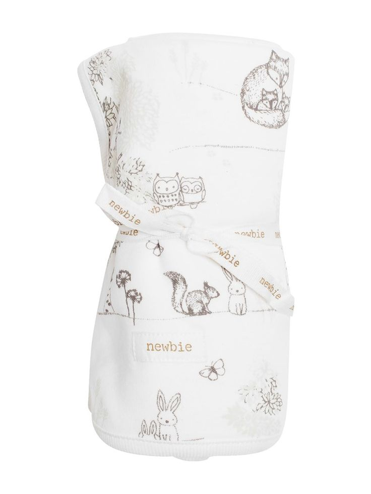 Mjuk mönstrad babyfilt - ekologisk bomull - Newbie - Hos KappAhl