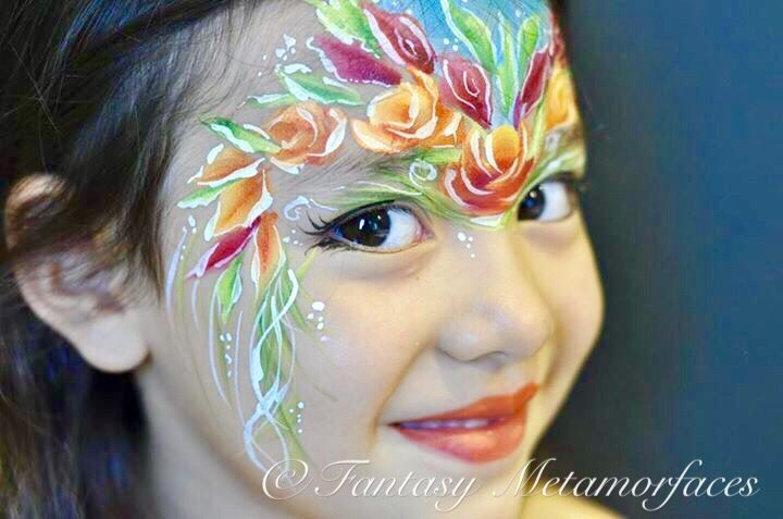 Floral Face Paint - inspired by Julie Dalton of JulieArt Face Painting