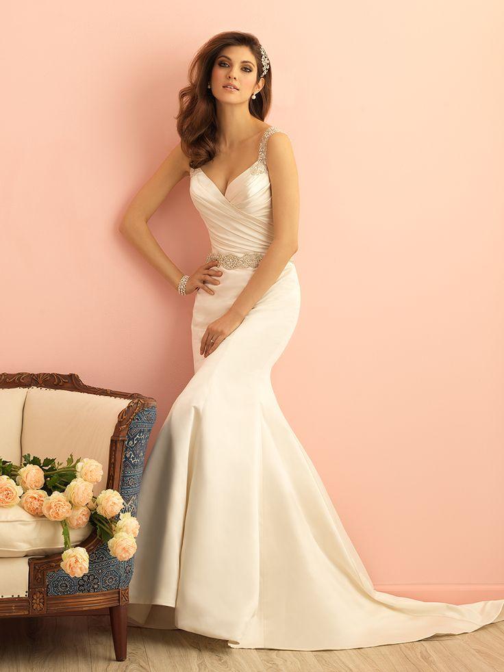 Perfect Allure Romance Fitted Wedding DressesSatin