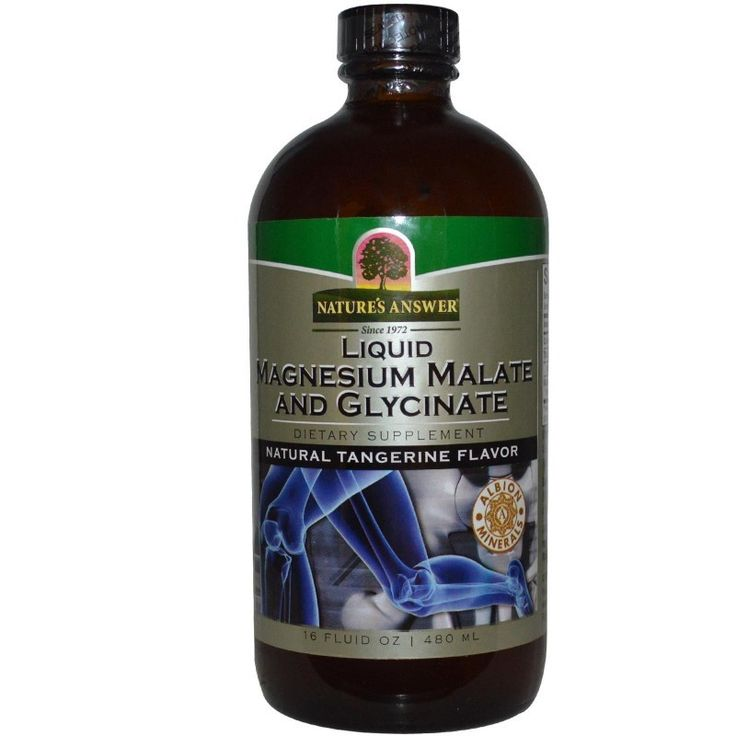Nature's Answer, Liquid Magnesium Malate & Glycinate, Natural Tangerine Flavor, 480 ml, 16 fl oz
