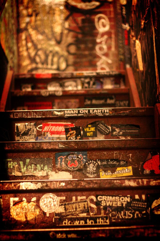 CBGB's - stairs leading up from the bathrooms
