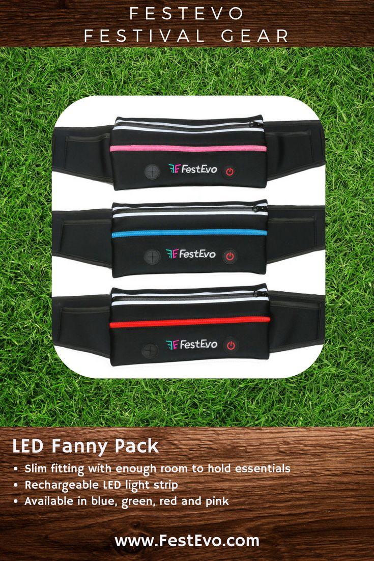 FestEvo Festival Gear - Rechargeable LED Fanny Pack for hands free festivaling #FestivalBetter