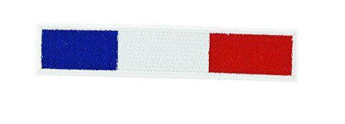 Patch ecusson thermocollant backpack drapeau france français biker brassard blan: Magnifique ecusson brodé Composition : 100% polyester…