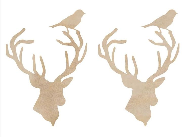 Kaiser Craft - Wood Flourish - Deer Heads,$2.99