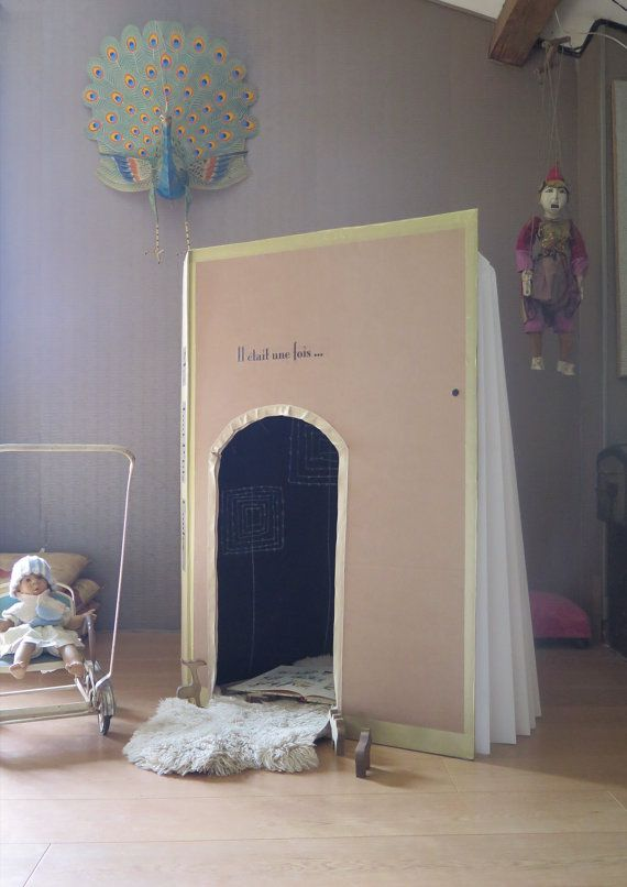 French Book Playhouse, french pop up tent, Origanid, interior decor for kids, french playhouse for kids
