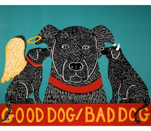 Stephen Huneck  Good dog, bad dog
