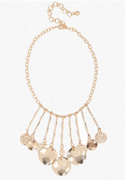 Hammered Coin Statement Necklace #bebe #bebeIndonesia #summer