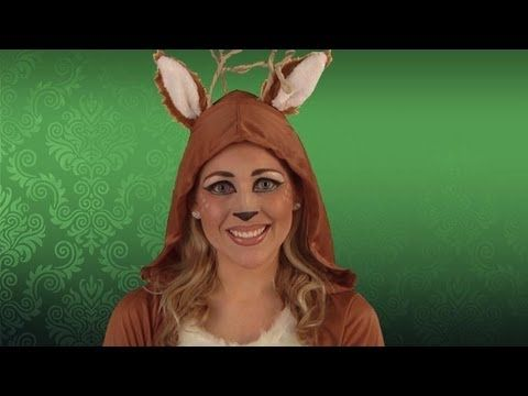 ▶ Deer Costume Makeup Tutorial - YouTube #halloween #bambi #diy