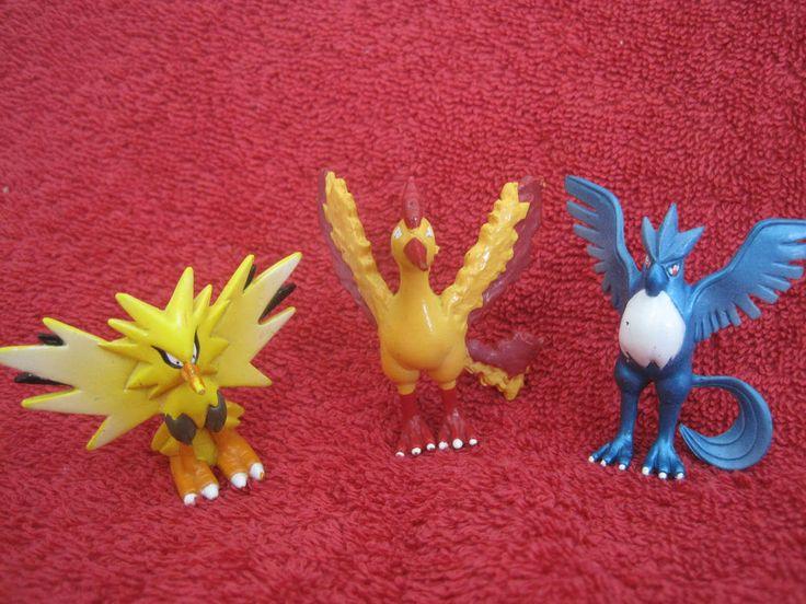 3 Pokemon Figures:Lavados+Arktos+Zapdos/4cm,(Moltres/Articuno)gebraucht/ F 18