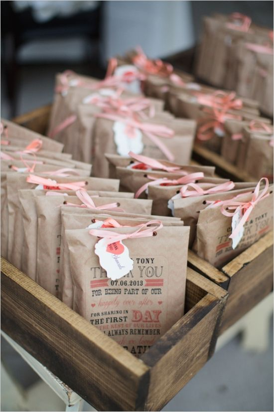 print  on kraft bags to create your own unique wedding favors