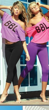 Like a bit of colour? BBL Sport basic capris available in black, purple,pink, royal blue.