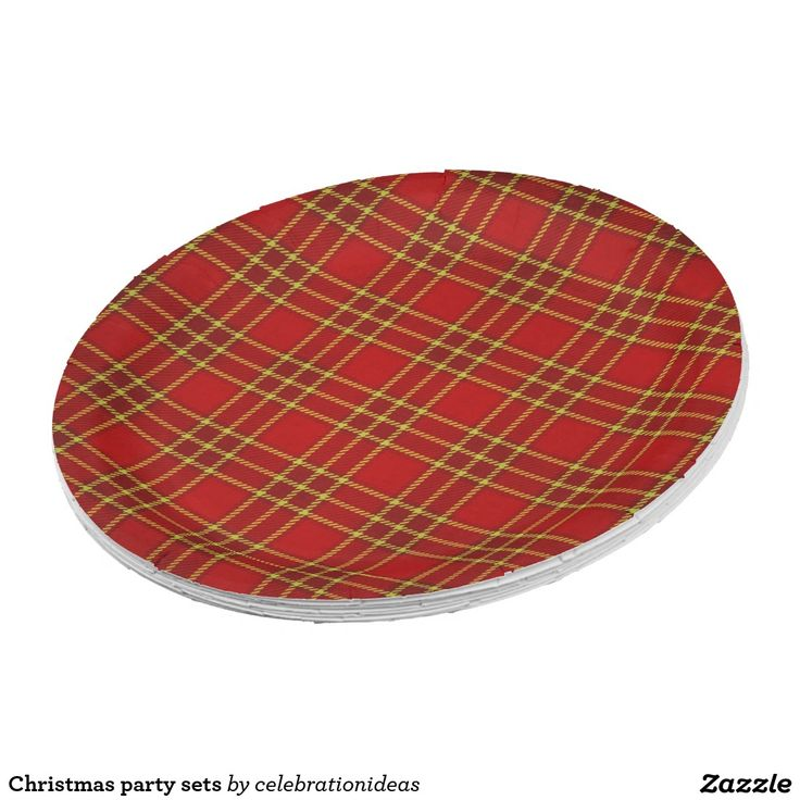 Christmas Party Paper Plates Part - 39: Shop Christmas Party Sets Paper Plate Created By Celebrationideas.