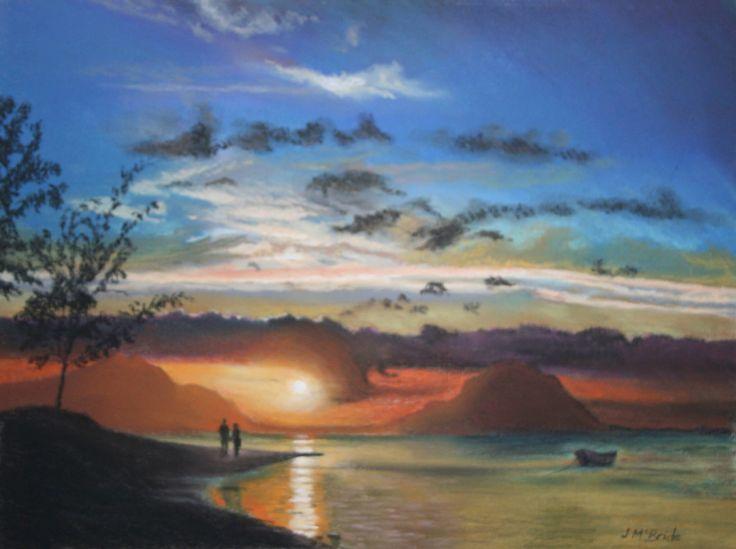 Sunset - pastels