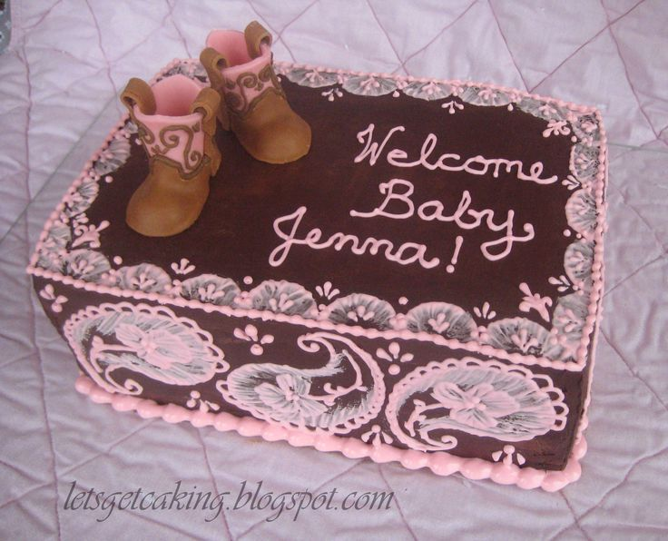 Western cowgirl cake for a baby shower or party theme