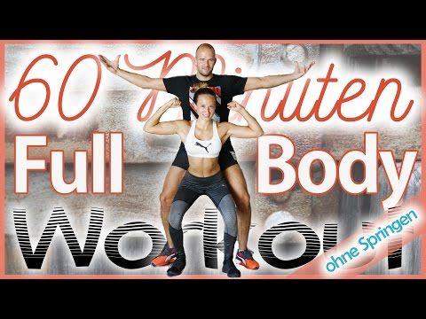 60 Minuten Workout - Bauch Beine Po & Oberkörper zuhause trainieren - 800 Kalorien - Ohne Springen - YouTube